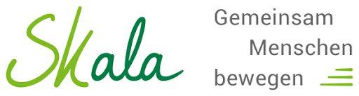Das Skala Logo. Dort steht: Gemeinsam Menschen bewegen.