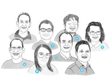 Illustrationen der Mitarbeitende im PIKSL Management Team